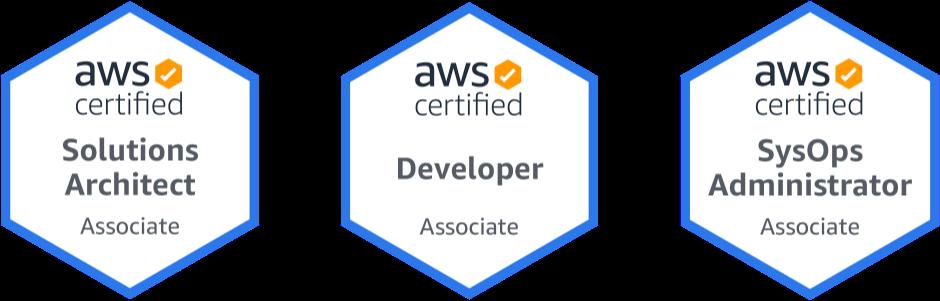 Piotr Belina AWS Certifications Badges